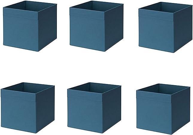 Ikea Drona Box, Azul Oscuro (Pack de 6): Amazon.es: Hogar