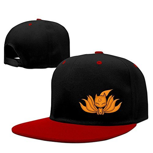 Fashion Naruto Nine Tail Fox Hokage Hip Hop Snapback Baseball Cap Red