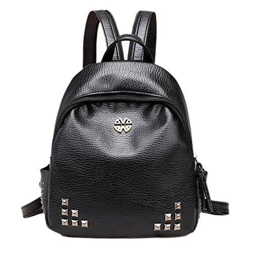 JD Million shop Women Rivet Backpack PU Leather Travel School Shoulder Bags - Card Oakley Sale Gift For