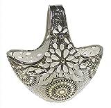D'Lusso Designs Silver Alea Design Basket