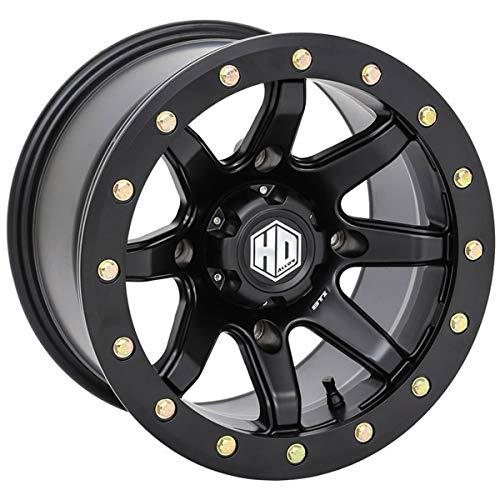 STI HD9 Beadlock ATV/UTV Wheels - Matte Black / 14x10 4/137 5+5