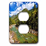 3dRose Danita Delimont - Rivers - The Animas River, San Juan National Forest, Colorado, USA - Light Switch Covers - 2 plug outlet cover (lsp_278833_6)