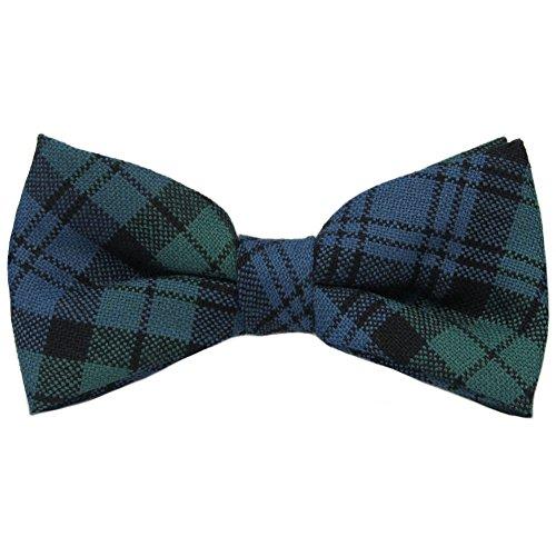 Wool Tartan Tie - Campbell Ancient Tartan Mens Bow Tie 100% Wool Pre-tied