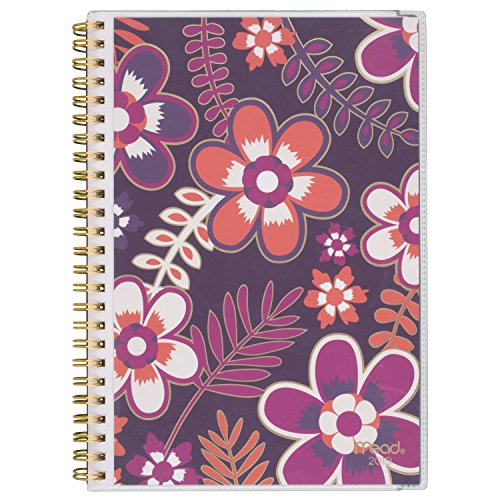 Mead Weekly/Monthly Desk Planner, January 2019 - December 2019, Small Size, Caprice, Color Will Vary (CRW40310)