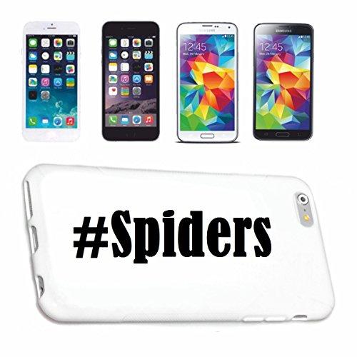 Handyhülle iPhone 5 / 5S Hashtag ... #Spiders ... im Social Network Design Hardcase Schutzhülle Handycover Smart Cover für Apple iPhone … in Weiß … Schlank und schön, das ist unser HardCase. Das Case