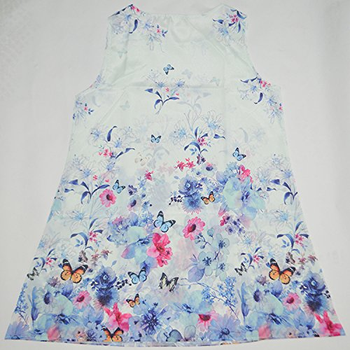 Mujer Flor Impresión Vestido IHRKleid® Vintage Suelto Otoño Vestido Mini Dress Style 3