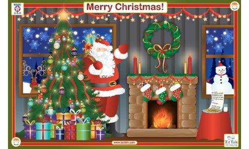 Placemat - Tot Talk - Merry Christmas Meal Dinning Kids Mat tot1051   B009IH6Q90