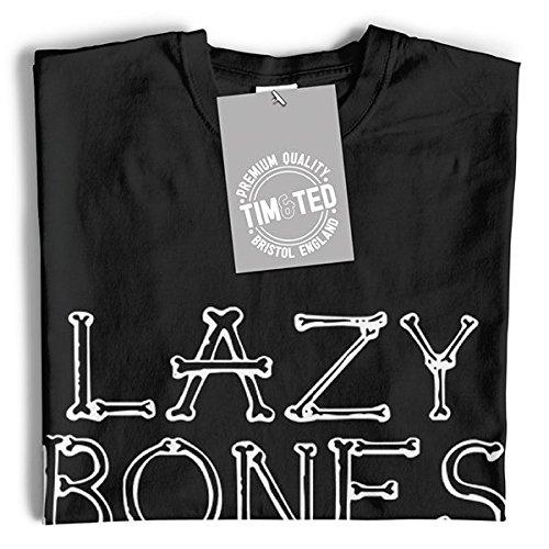 Funny Joke Womens Halloween Funny Slogan Bones Tee Lazy Halloween White HTqUw