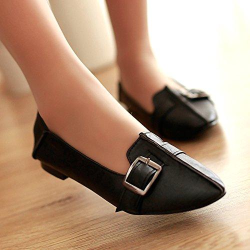 Lemai Flaggskepp Danar Läder Slip-on Loafers Bekväma Balett Lägenheter Skor Promenadskor ¡svart