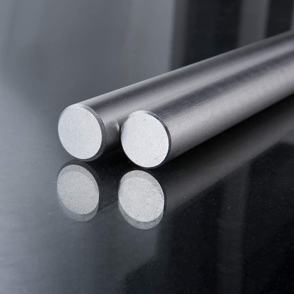 LEISHENT 2PCS 6061 Aluminium Rods Round Bar 9Mm in Diameter and 600Mm in Length