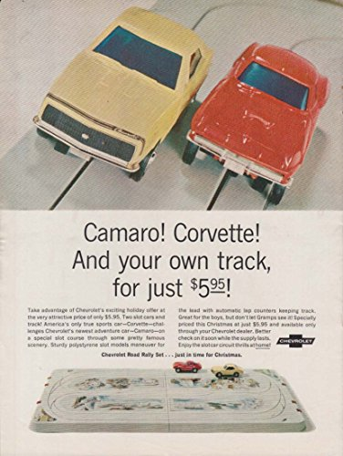 Camaro & Corvette Slot Cars & Track MAGAZINE ADVERTISEMENT OFFER 1967