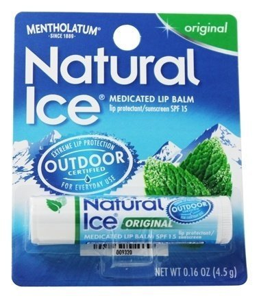 Mentholatum Natural Ice Lip Balm Original SPF 15 1 Each ( Pack of 3) (The Best Natural Lip Balm)