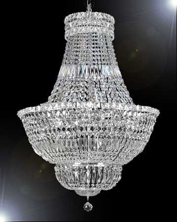 FRENCH EMPIRE CRYSTAL CHANDELIER LIGHTING H36″ W30″