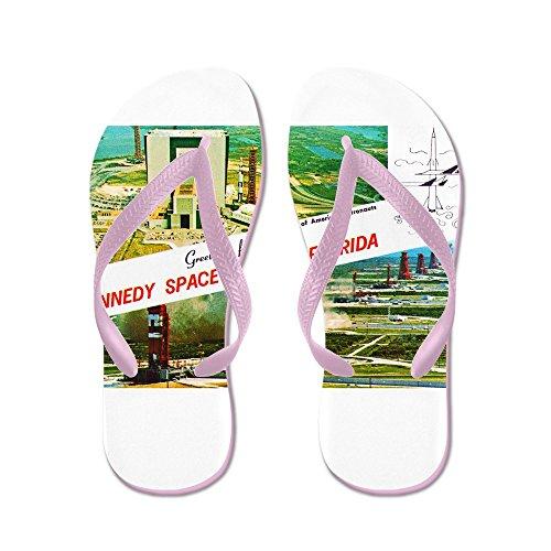 CafePress Kennedy Space Center Florida - Flip Flops, Funny Thong Sandals, Beach Sandals Pink