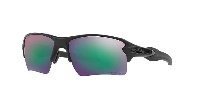 Amazon.com  Oakley Mens Sunglasses Black Matte Blue - Polarized ... f054a58abc20