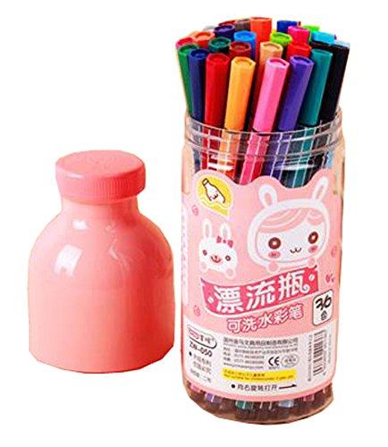 PANDA SUPERSTORE Children Multicolor Washable Crayons/Non-Toxic Color Pens, 24ct (Random Color)