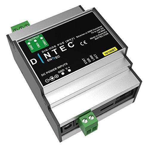 Enttec din-ode PoE MK271021artnet DMX Power Over Ethernet Node Carril DIN Gateway art-net iluminación driver de interfaz
