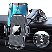 TORRAS [Ultra-Durable] Cell Phone Holder for Car, Universal Car Phone Mount Dashboard Windshield Vent Compatible with iPhone 11 Pro Max XS X XR 8 Plus SE, Samsung Galaxy S20+Ultra Note10 Plus & All