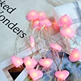 FIged LED String Lights, Love Heart Curtain String Lights Decoration for Wedding Party Home Garden Bedroom Outdoor Indoor Wall Window Christmas Tree