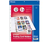 Bazic Top Loading 9-Pockets Sports Card Holder, 10 per Pack (Case of 144)