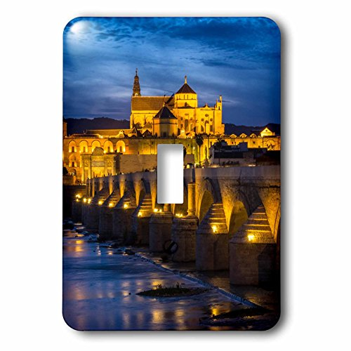 3dRose Danita Delimont - Bridges - Spain, Andalusia. Cordoba. Roman bridge across the Guadalquivir river. - Light Switch Covers - single toggle switch (lsp_277894_1) by 3dRose