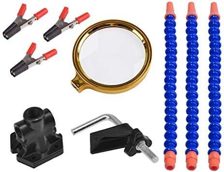 sharprepublic 多機能はんだツール はんだ付けステーション 修理フレーム サードハンド はんだ付け道具 拡大レンズ付