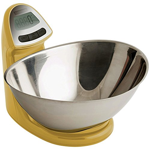 (Typhoon Vision Stainless Steel Digital Food Kitchen Scale, Mustard)