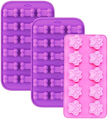15 Cavity Silicone Dog Bone Baking Pan Mold Tray Treat Cookie Biscuit Mould Tool