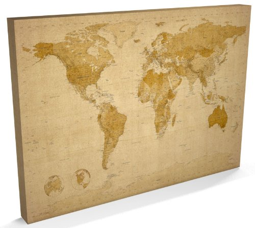 Canvas World Map - Large Canvas: Amazon.co.uk: Kitchen & Home