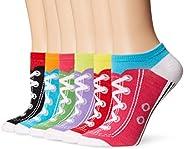 K. Bell Sport Women's Sneaker Low Cut No Show Socks 6-pack, One Size (KBWS15C044-06), Sneaker Socks (Wh