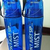 O2COOL Mist 'N Sip 20 Oz Hydration Bottle in PINK