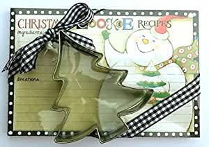 Grasslands Road Christmas Cookie Recipe Cards & Cookie Cutter ~ Tree