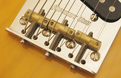 Hipshot Stainless Steel Tele Bridge 4-Hole Mount With Compensated Saddles ()