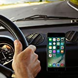 Maxboost Magnetic Car Mount, (3-Pack) Universal Flat Stick-on Dashboard Holder +Metal Plate/ADH-Tape for Phone iPhone X 8 7 PLUS, Galaxy s9 s8 Note 8, HTC,Pixel,LG G6,GPS,Phablet (Work w/ most Case)