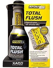 Limpiador del sistema de aceite, XADO Atomex TotalFlush. Sistema de limpieza de pistones con el aditivo protector Revitalizant