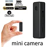 Portable Mini Camera with Low Illumination Real 2K FHD 1296P Loop Record Camera Fuvision Pocket DVR 4.0 Mega Video Recording Wide Angle Body-worn Recorder Up To 128GB Micro SD[NOT Include]Nanny Camera