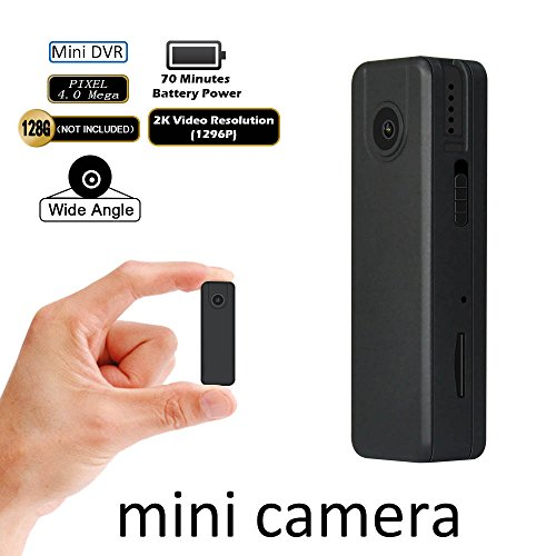 Portable Mini Camera with Low Illumination Real 2K FHD 1296P Loop Record Camera Fuvision Pocket DVR 4.0 Mega Video Recording Wide Angle Body-worn Recorder Up To 128GB Micro SD[NOT Include]Nanny (Spy Portable Dvr)