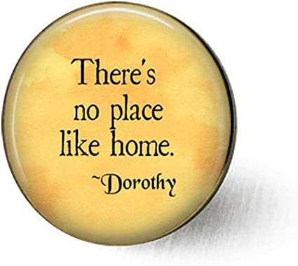 Amazon Com Feng Qing There S No Place Like Home Wizard Of Oz Quote Oz Jewelry Dorothy Quote Ruby Slippers Homesick Gift Welcome Home Gift Toto Brooch Arts Crafts Sewing