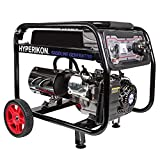 Hyperikon Gas Generator - 2800/3000 Watts - 210cc OHV Engine 7.0 HP, 120/240 V - Portable Generators For Home Use & Outdoor With Electric and Recoil Starter - Emergency Backup Generator With Wheel Kit
