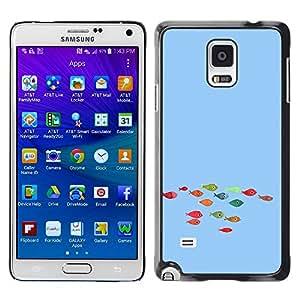 Be Good Phone Accessory // Dura Cáscara cubierta Protectora Caso Carcasa Funda de Protección para Samsung Galaxy Note 4 SM-N910 // Funny Colorful Koi Fish