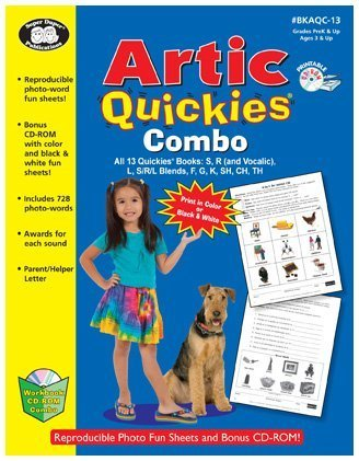 Read Online Artic Quickies? Combo All 13 Quickies Books: S, R (and Vocalic), L, S/R/L Blends, F, G, K, SH, CH, TH with Printable CD-ROM (2012-05-04) pdf