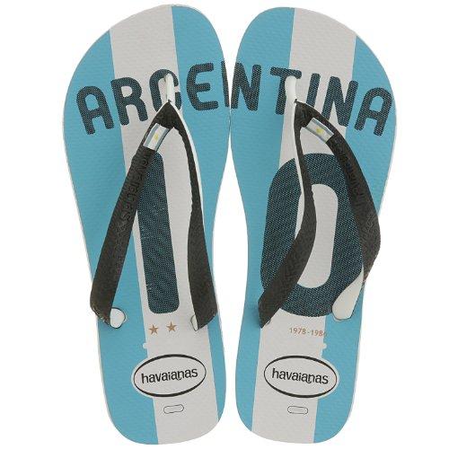 Havaianas Teams Argentinien Zehensandalen weiß