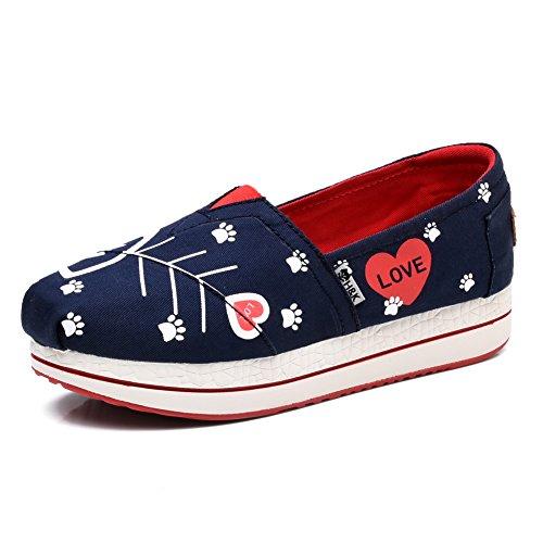 Sneaker 6602 Blu Da Donna Con Tomaia In Pelle Tiosebon Slip-on