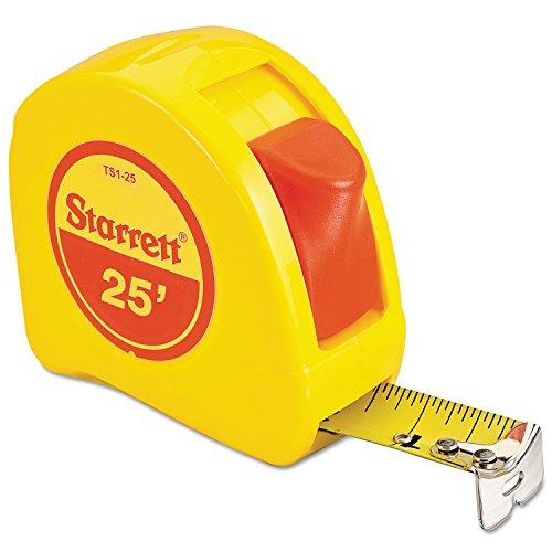 L S  Starrett 30665 Pocket Tapes Measuring Tapes  1  X 25  Yellow