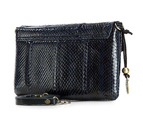 Wittchen Classic Bag, Bleu marine - Taille: 16x28cm Matériel: Cuir grainé - pour A4: N ° 19-4-557-n