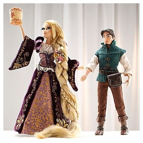12' Collectors Edition - Disney Designer Fairytale Rapunzel And Flynn Dolls Limited edition