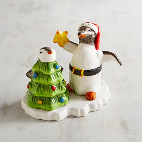 New Pier One Penguins on Ice at Christmas Salt and Pepper and Base 3pc - Penguin 1 Pier
