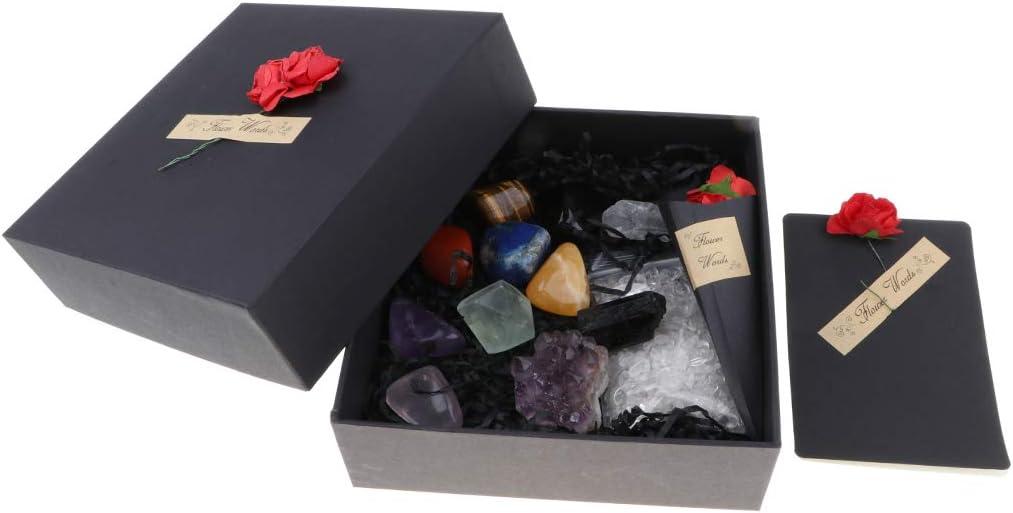 perfeclan 12x Muestra de Piedras Preciosas Minerales de Mundo con Caja de Almacenamiento para Colecciones Aprendizaje de Escuela: Amazon.es: Juguetes y juegos