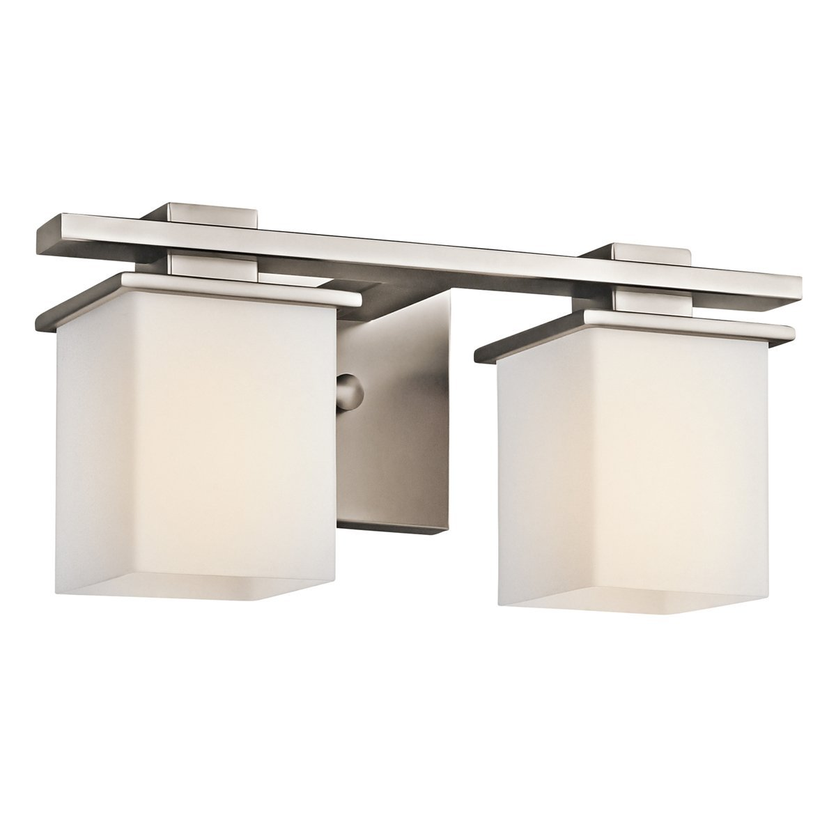 アンティークピューターTully 2ライト15 in。Wide Vanityライトバスルーム器具withサテンエッチングガラスシェード B00NH02U94