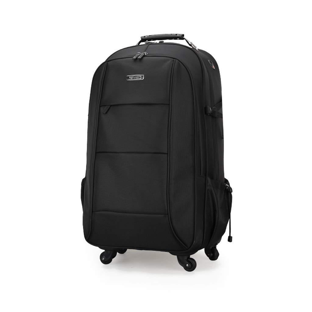 メンズ超軽量出張用ホイール付きスクロールトロリーバックパック、タブレットスーツケース、手荷物コンパートメント、公認バッグ、トートバッグブラック(51 * 31 * 20 cm) (色 : ブラック, サイズ さいず : 51*31*20cm) B07S1WT3DX ブラック 51*31*20cm